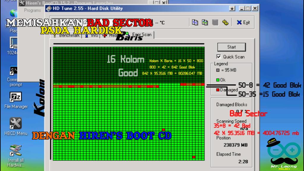 Read more about the article Memisahkan Bad Sector Pada Hardisk Menggunakan Hiren's Boot CD