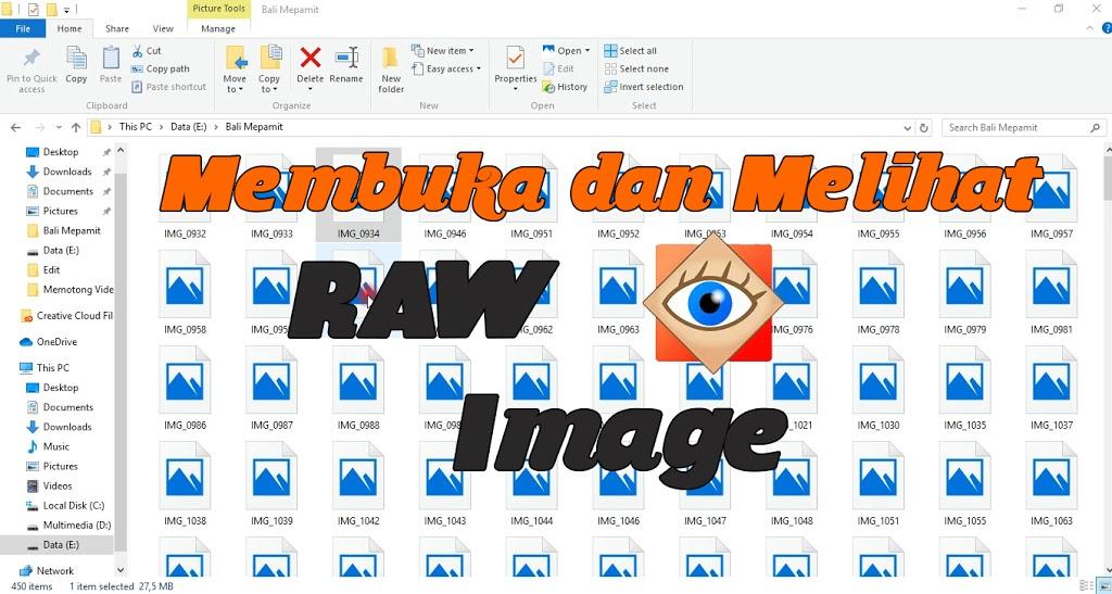 Read more about the article Membuka dan Melihat File Photo RAW