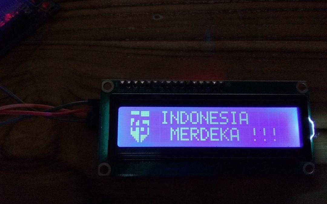 Cara Membuat Custom Text atau Custom Karakter di LCD dan I2C Arduino