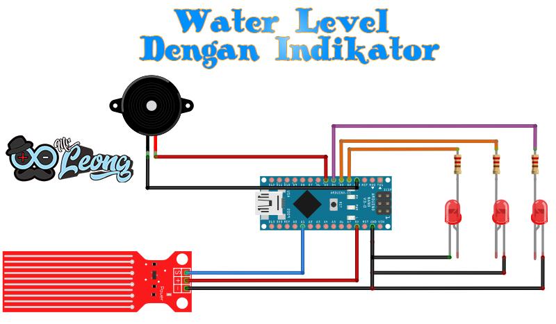 Menggunakan Water Level Sensor  Arduino