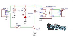 Read more about the article Rangkaian Modul Relay 5v 1 Channel