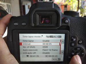 Cara Membuat Timelapse dengan Camera EOS 800D