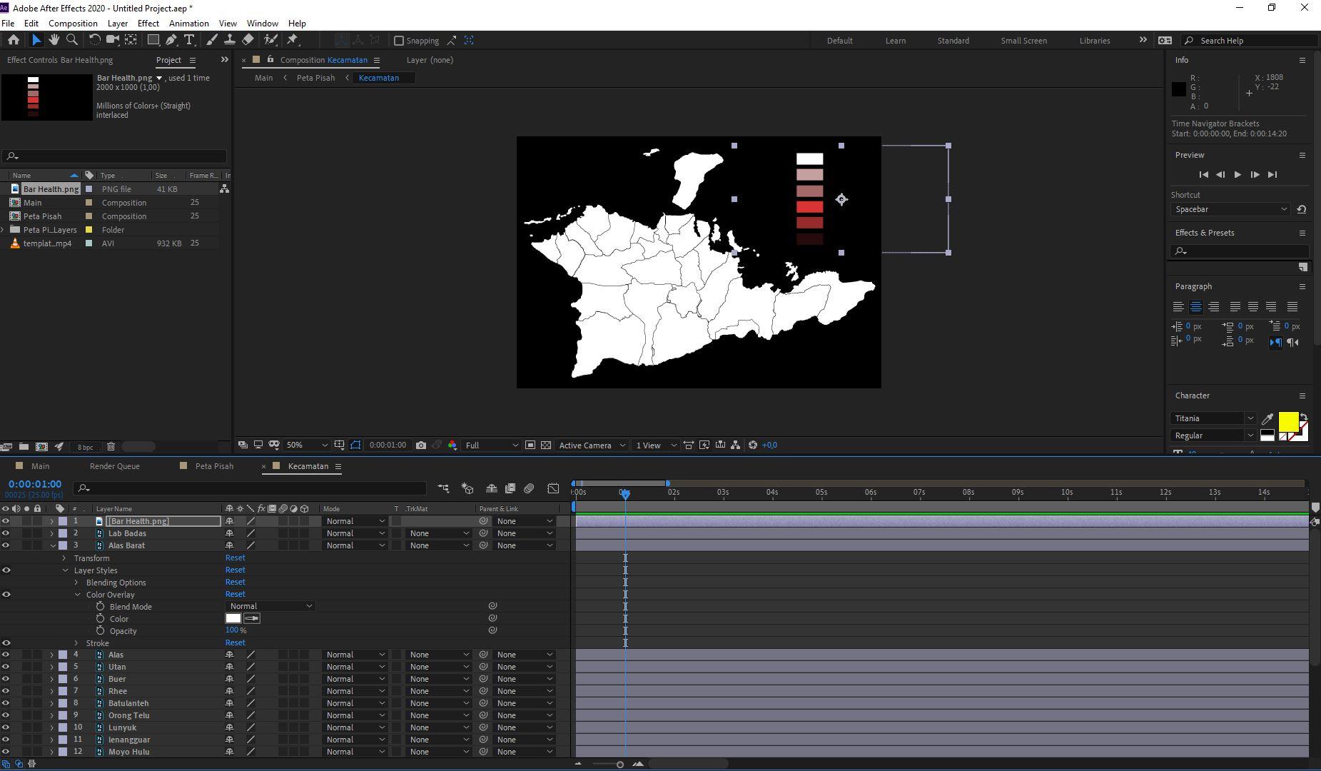 Read more about the article Cara Membuat Animasi Perubahan Warna pada Peta (After Effect)