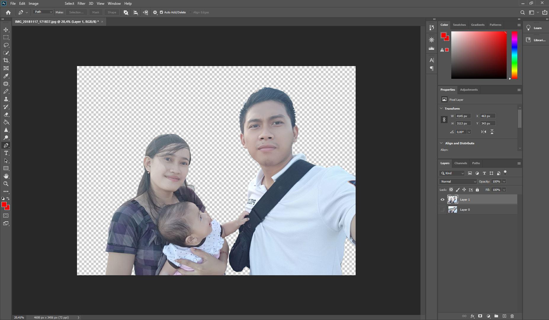 Cara Menghapus Background dengan Photoshop