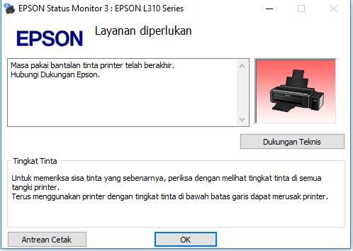 Cara Mengatasi Masa Pakai Bantalan Tinta Printer telah Berakhir pada Printer Epson