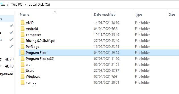 Masuk Program Files