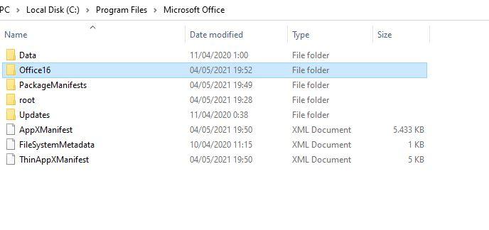 Folder Office16